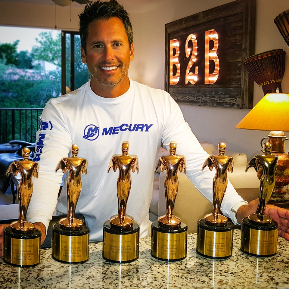Peter with 6 2016 Telly Awards
